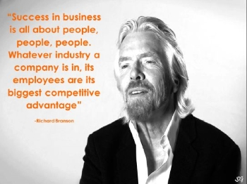richard branson - success in business is about people people people quote