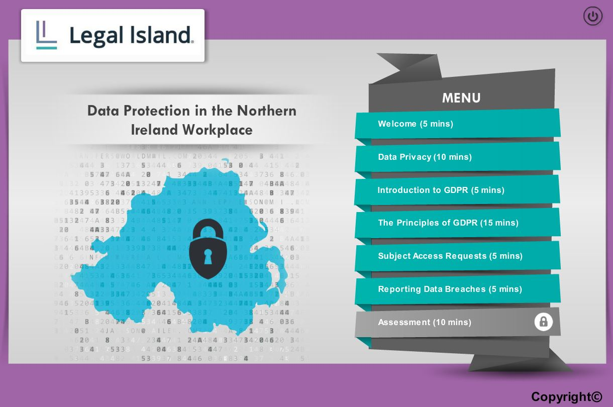 eLearning: Data Protection in the Northern Ireland Workplace