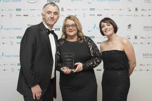 Clanmil Housing Association collect their award for Best Employer for Diversity and Equality in Northern Ireland – Large Company