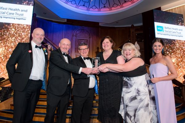 Belfast Health & Social Care Trust collect the award for Best Disability Initiative 2019