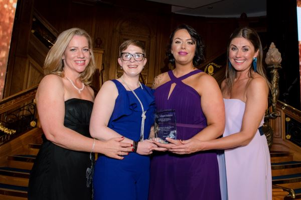Sensata collecting award for Best Large Employer for Equality & Diversity in Northern Ireland 2019