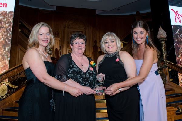 Action for Children collecting award for Best Small Employer for Equality & Diversity in Northern Ireland 2019