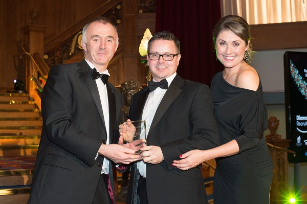 Pinsent Masons LLP collect their award for Best LGBT Initiative at the Northern Ireland Equality & Diversity Awards 2018