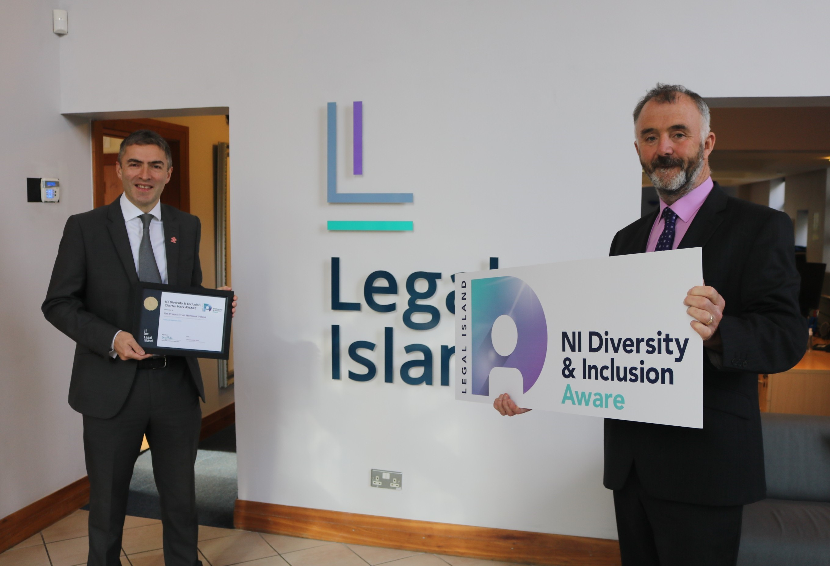 The Prince's Trust NI receive Legal Island's Chartermark